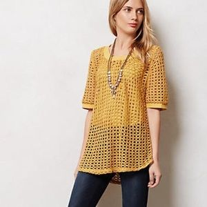 Angel of the North Senoia Mustard Yellow Knit Top